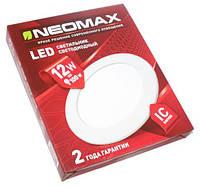 Светодиодный Led светильник встраиваемый Neomax (круг) 12W 4500K