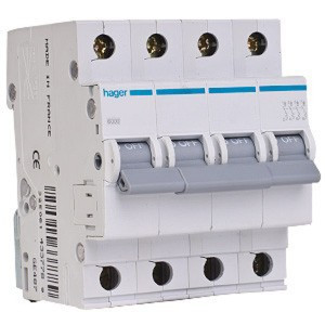 Автоматичний вимикач МС440А In=40 А, 4п, С, 6 kA, 4м