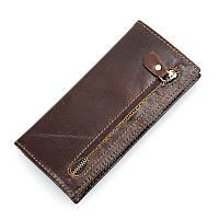 Кожаный клатч R-8122Q brown
