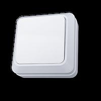 Выключатель одноклавишный 10 А белый внешний
