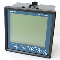 Мультиметр трехфазный врезной - измерение напряжения, тока, частоты и мощности Вольт Ампер Ватт Герц метр со счетчиком э/э