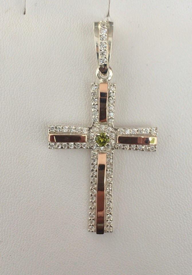 Крест серебряный с золотом (К-4)