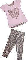 Летний костюм на девочку  туника+лосины ТМ Фламинго размеры 74