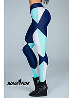 Лосины Bona Fide  Joker Total Blue & Mint & White