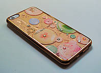 Чехол на Айфон 6 Plus/6s Plus Силикон камни Swarovski Шары Золото Прозрачный