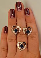 Серебряное кольцо с золотыми пластинками (арт.066к)