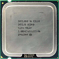 Б/У 	Процессор Intel Xeon E3110 3.0 GHz/L2 6MB/1333MHz/s775, tray