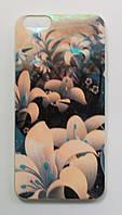 Чехол на Айфон 6 Plus/6s Plus приятный Силикон Глянцевый Цветы , фото 1