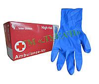 Рукавиці латекс Ambulance-Vit (M) 25пар/уп. (10уп./ящ.)*