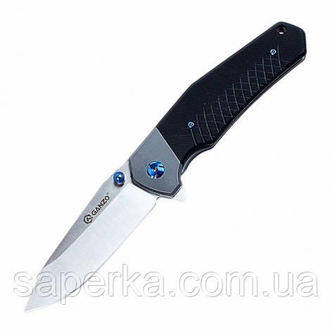 Нож походный Ganzo (черный, зеленый, оранжевый) G7491-BK, фото 2