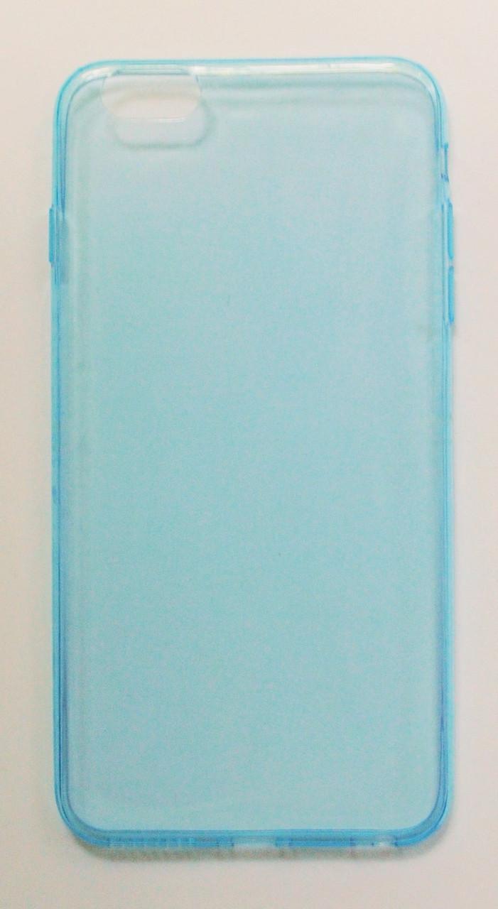 Чехол на Айфон 6 Plus/6s Plus Силикон толщиной 0.5 мм Прозрачный Голубой