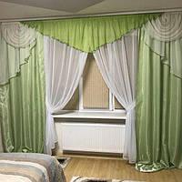Комплект ламбрекен, шторы, тюль