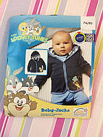Кофта с капюшоном Looney Tunse, для мальчика 6-12 мес.