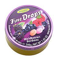 Леденцы (конфеты) Woogie Fine Drops (мелкие капли) микс лесная ягода  Австрия 200г