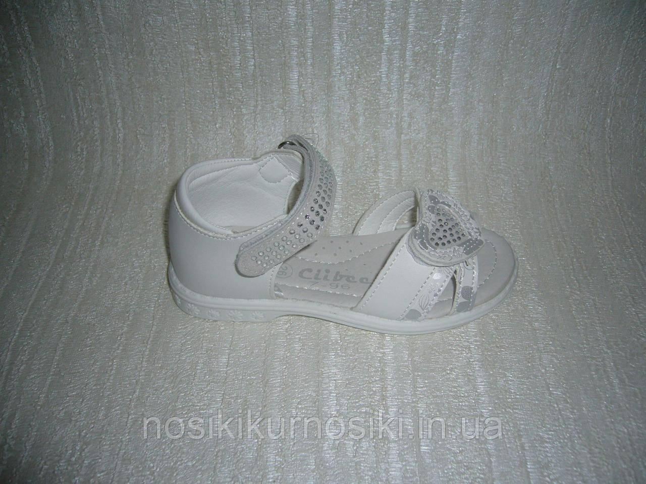 Босоніжки для дівчаток Clibee 26 розмір колір білий
