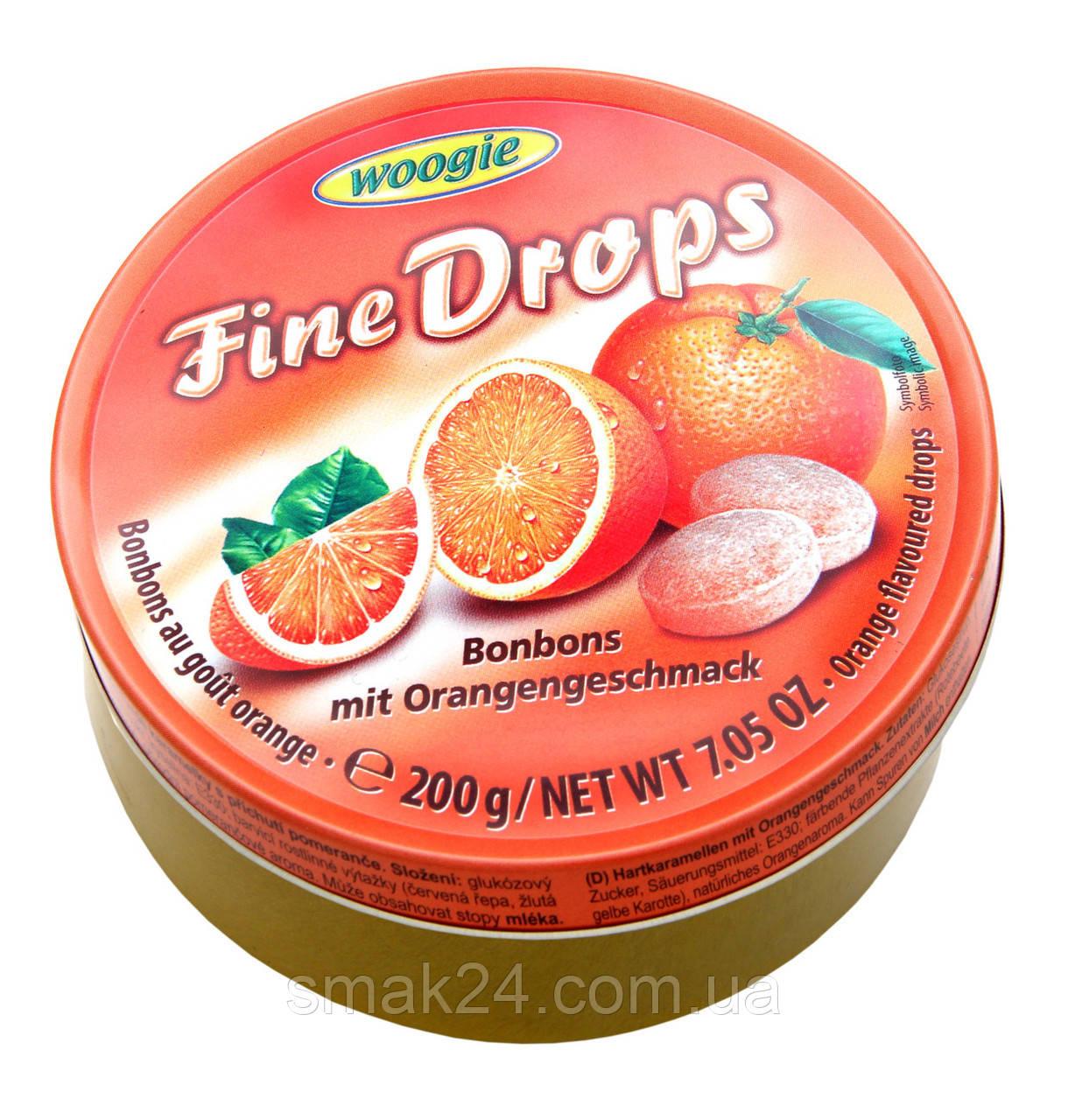Леденцы (конфеты) Woogie Fine Drops (мелкие капли)  апельсиновый вкусАвстрия 200г