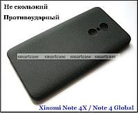 Эластичный черный Soft TPU чехол бампер для Xiaomi Note 4x, Note 4 Global, фото 1