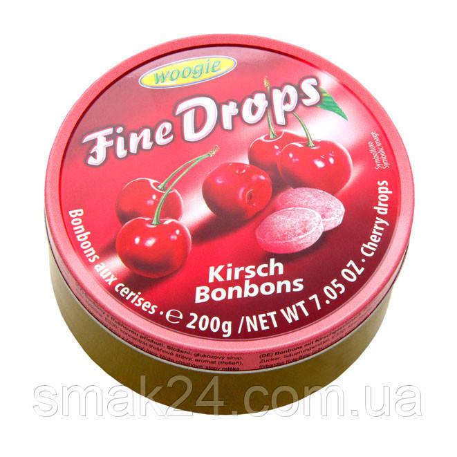 Леденцы (конфеты) Woogie Fine Drops (мелкие капли)  вкус вишни Австрия 200г