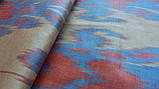 """Шелковая ткань в технике """"Икат"""". Узбекистан, фото 3"""