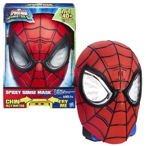Электронная маска Человека Паука, свет, звук, Hasbro Ultimate Spider-Man Sense Mask Оригинал из США