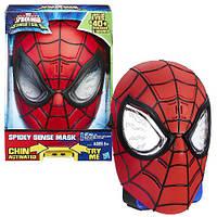 Электронная маска Человека Паука, свет, звук, Hasbro Ultimate Spider-Man Sense Mask Оригинал из США , фото 1