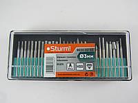 Шарошки с алмазным напылением, 30 шт (Ø3ммX45мм) Sturm 9030-02-S2