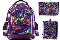 K17-509S-2 Набор школьный Kite(Рюкзак+сумка+пенал) Neon butterfly