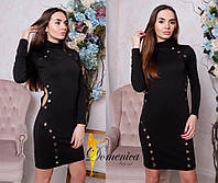 Платье с люверсами  Трикотаж джерси  С и М (21137)