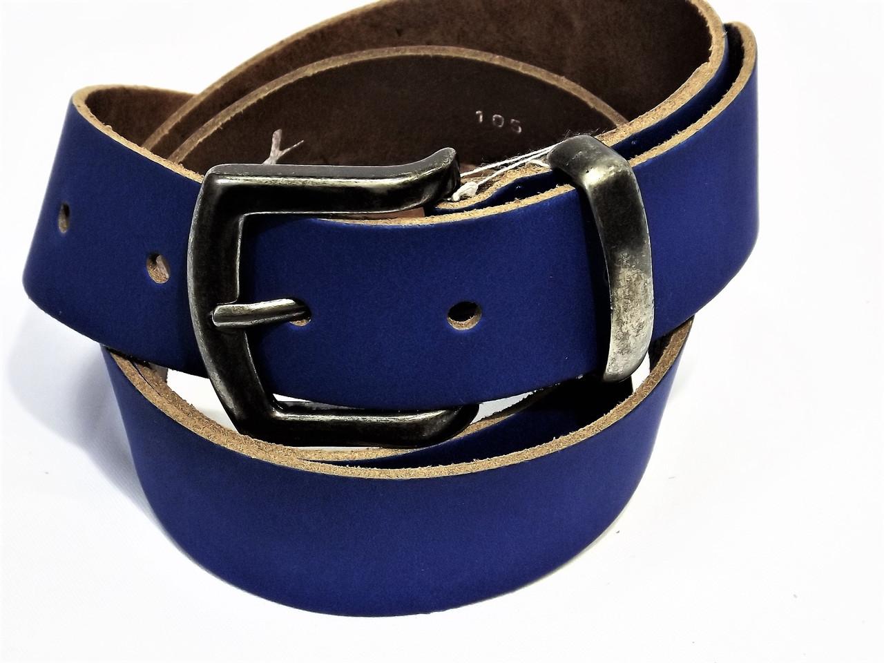 Ремень кожаный женский синий ремни армани мужские