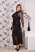 Коричневое платье 0192 (юбка опционально)