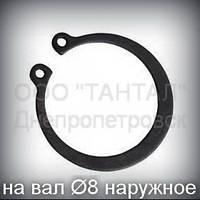 Кольцо 8 ГОСТ 13942-86 (DIN 471) стопорное эксцентрическое наружное