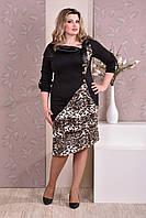 Леопардовое платье 0186-4