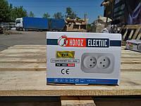 Розетка двойная Horoz Electric накладная EVA