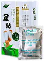 Пластырь на стопы лавандовый ЦзюньЧжиГун для выведения токсинов (в упаковке 1 пакет 2 пластыря)