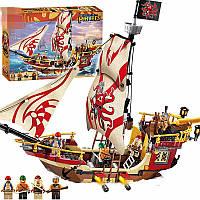Детский Конструктор для мальчиков Конструктор Brick 1311 Пиратский корабль 368дет.,