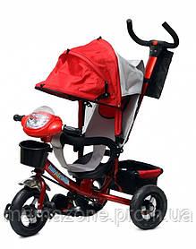 Детский трехколесный велосипед Baby trike CT-60, надувные колеса,красный