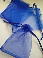 Мешочки органза синяя 7х9 см. Цена за 1 шт. Производство Украина.