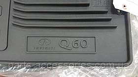 Коврики в салон резиновые Infiniti Q60 купе 2014-16 Новые Оригинальные