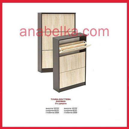 Тумба для обуви 600/800 3-х дверная (Мебель сервис), фото 2
