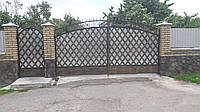 Ворота кованные металические