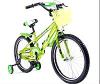 """Велосипед двухколесный Bblong  20"""" , с корзинкой,  салатовый"""