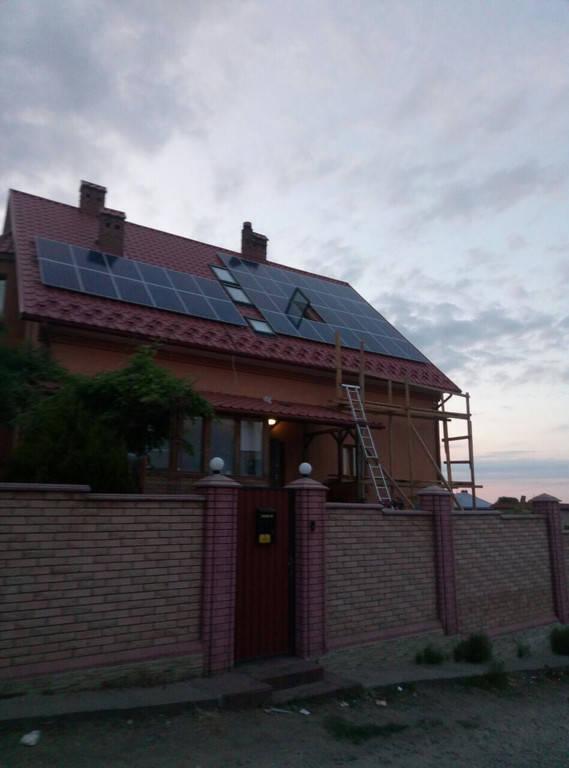 Сонячна мережева електростанція, потужність 10 кВт*год, м. Чернівці 1