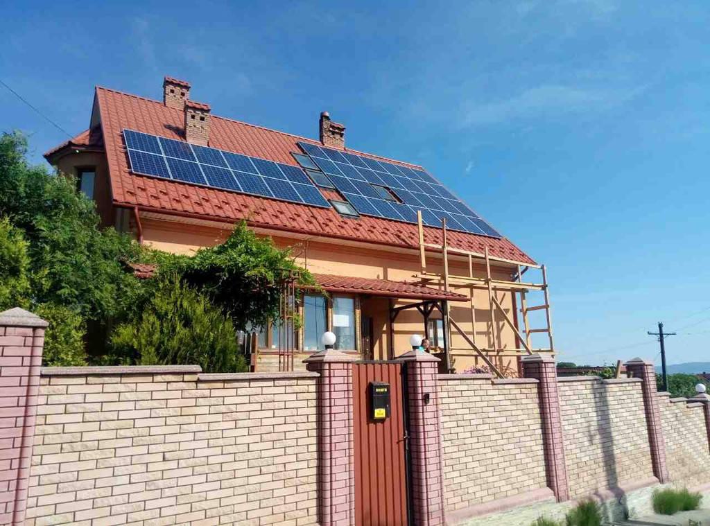 Сонячна мережева електростанція, потужність 10 кВт*год, м. Чернівці 2