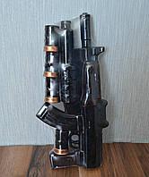 """Штоф Автомат с подствольником """"АК"""", бутылка в виде автомата + 4 стопки"""