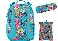 K17-703M-2 Набор школьный Kite(Рюкзак+сумка+пенал) Tropical flower