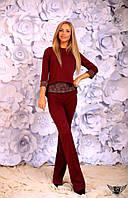 Женский костюм-брючный кофточка и брюки Цвета: