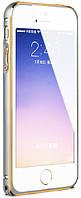 Бампер для iPhone 5/5s/SE Metal Slim, Silver-Gold