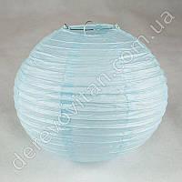 Бумажный подвесной фонарик, светло-голубой, 25 см