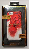 Чехол на Айфон 6/6s BECKBERG Luxurious со Стразами ТПУ Роза, фото 1