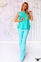 Женский костюм-брючный блуза с кулоном и брюки Цвета: